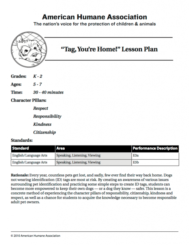 Tag/lesson plans - Our First Responders Are There When Animals Need Them Most